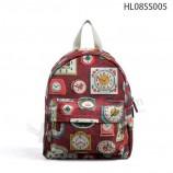 пользовательский холст девочек рюкзак мешок, красный красный рюкзак вина