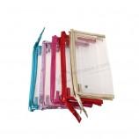изготовленный на заказ печатный resalable ясный pvc застежка -молния мешок хозяйственная сумка