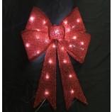 LEDランプ付き卸売カスタム高品質のテクスチャキラキラクリスマスの装飾の弓