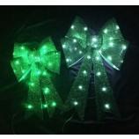 卸売カスタム高品質緑の大きな光沢のあるクリスマスの装飾弓leDランプ