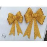 卸売カスタム高品質の金のクリスマスナイトライトの装飾の弓