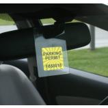 оптовый таможенный прозрачный держатель разрешения на парковку на ПВХ