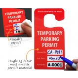 カー・リア・ミラー用の書き込み可能な吊り駐車許可証
