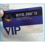 주문 로고 명확한 pvc 일원 카드 투명한 플라스틱 VIP 카드 도매