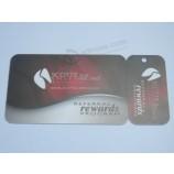 様々なシーケンシャルバーコードを持つ卸売カスタム報酬会員ロイヤリティプラスチックコンボカード