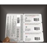 カスタムデザインプレプリントプラスチックバーコードメンバーカード