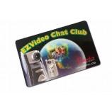プロモーション印刷された光沢のある硬質プラスチック名刺メンバーカード