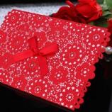 中国スタイルの結婚式招待状、レーザーカット結婚式招待状のカードデザイン