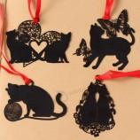 사랑스러운 귀여운 k에이w에이ii 금속 책갈피 검은 고양이 책 홀더 책 종이 크리 에이 티브 선물 한국 성에이tione에 대 한 책