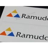 사용자 지정 비닐 회사 로고 양각 된 접착 레이블 스티커
