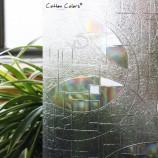 綿の色のPVC防水窓のカバーフィルム、いいえ-接着剤3D静的装飾窓プライバシーガラスSt