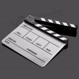 アクリルルーサイトクラッパーボードディレクターテレビフィルムムービーカットアクションシーンクラッパーボード