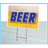 도매 개인화 된 4 '* 8'옥외 광고 물 사용을 위해 주문을 받아서 만들어지는 플라스틱 플루트 pp 골판지 중공 널