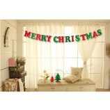 Wholesale customized high quality Christmas Banner hanging Flag