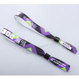 пользовательский печать праздник браслет nfc тканый браслет