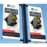 высококачественный уличный столб рекламный баннер обычай