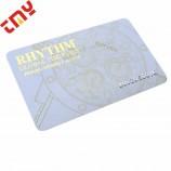 あなた自身の設計の注文ポリ塩化ビニールプラスチック名刺の金ホイル