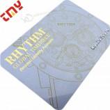 カスタムプラスチック印刷スタンプ名刺金箔