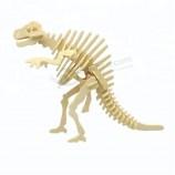 사용자 지정 공룡 장난감 시리즈 spinosaurus 어린이 장난감 교육 나무 퍼즐