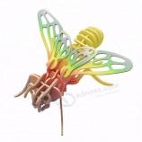 Пчела детская образовательная сборка игрушки деревянные 3d головоломка на заказ