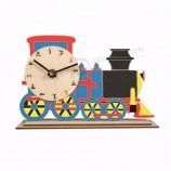 交通テーマアセンブリ玩具子供diy時計壁卸売