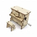 DIYピアノ形カスタム音楽3D木製オルゴールクランク卸売