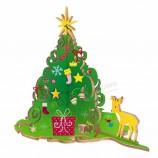 卸売子供絵画キットトナカイクリスマス装飾diyおもちゃ付きクリスマスツリー