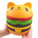 Pu 소프트 버거 스 퀴시 점보 고양이 햄버거 거품 제조 업체