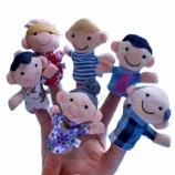 мягкая плюшевая игрушка палец руки кукольный мини-начинка мультфильм животных сладкой семьи