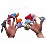 профессиональная мягкая плюшевая мини игрушка для животных рождество милая дети палец кукольный