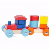 非-有毒な木のdiyのビルディングブロックは子供のための教育おもちゃです