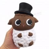 キャップ羊のねばねばした付箋動物アルパカの柔らかいおもちゃ