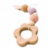 新しいスタイルの赤ちゃんの歯が生えるビーズおしゃぶりチェーン木製のすすおしゃぶり