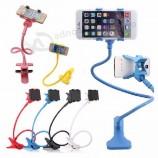 360 Rotating Flexible Plastic Long Arm Lazy Neck Cell Phone Holder Desk Stents Table Clip Bracket