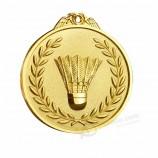 золото серебро бронза бадминтон спортивные награды медали с лентой