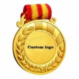 금속 스포츠 금 상을 월드컵 트로피 및 리본 메뉴와 메달