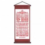 Оптовая пользовательские прокрутки баннер крытый декор спальни висит настенный флаг для LFC футбольный болельщик подарок 45x110 см