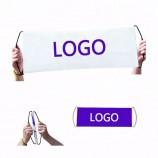 пользовательские рекламные ручные самопрокручивающийся баннер ручной выдвижной баннер фанбана вентилятор баннер