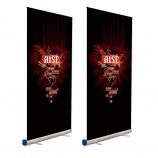 рекламный выдвижной дисплей рулон вверх баннерной печати стенд для рекламы