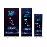 デジタル印刷格納式ロールアップバナースタンド広告