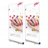 подгонянный алюминиевый сплав retractable свертывает вверх знамя для крытого дисплея рекламы