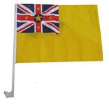 옥외 폴리 에스테 niue 국가 차 창 깃발