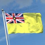 빠른 배달 실크 스크린 인쇄 niue 국기