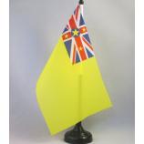 소형 폴리 에스테 niue 책상 테이블 깃발