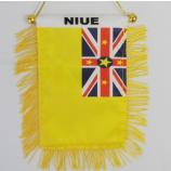 niue 거울 깃발을 거는 도매 폴리 에스테 차