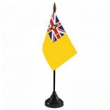 플라스틱베이스 niue 사무실 테이블 탑 플래그 도매