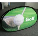自立型ゴルフポップアップフレームバナーバナーカスタム