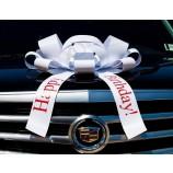 carbowz 큰 흰색 자동차 활 생일 축하합니다 활