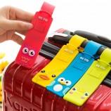 мультфильм силиконовые путешествия багаж бирки багаж чемодан этикетки