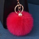 여자를위한 8CM Pom Pom 공 keychain는 지갑 차 스타일링 열쇠 고리를 자루에 넣습니다 공장